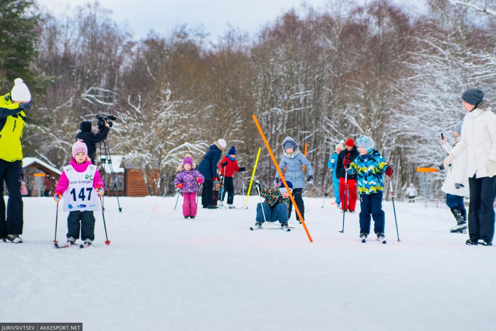 Narva Suusasõit 2016 - самые маленькие участники нарвского лыжного заезда 2016