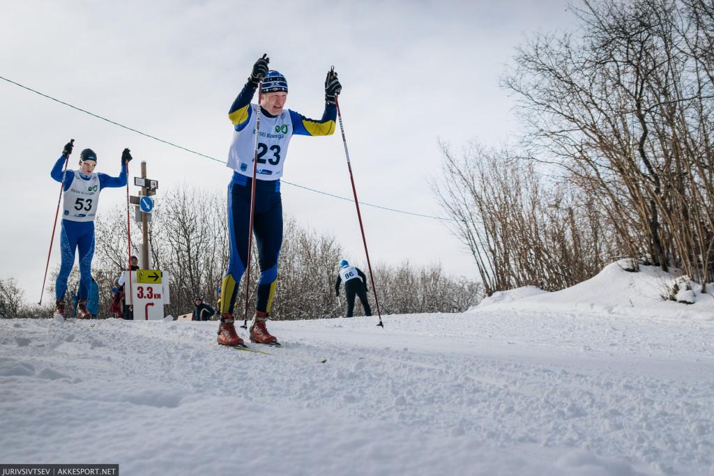 Narva Suusasõit 2016 - Пееп Кивиль и Марко Коскинен, борьба за лидерство